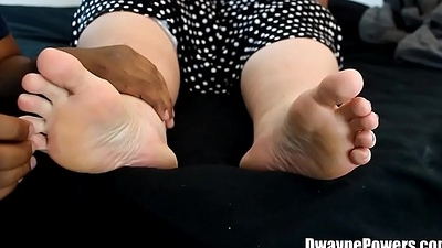 Interracial Foot Worship with His Get hitched