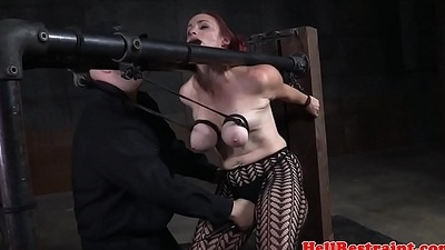 Tiedup dutiful whipped check a investigate breastbondage