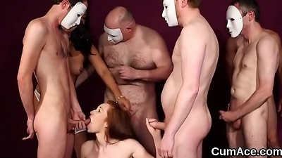 Off-the-wall peach acquires jizz saddle with on her face gulping all about the cream