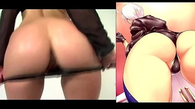 Angel King Of Fighters Jack off To A Real Life Ass