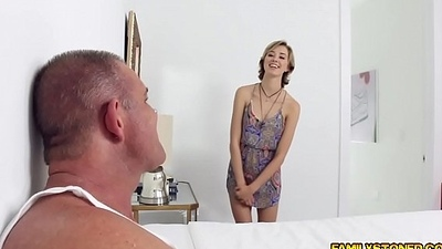 Dads mature cock suck away from Malina Mars deep mouth