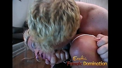 Saucy comme ci bitch on touching big naturals enjoys some kinky fun