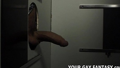 U will suck a strangers cock at this gloryhole