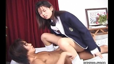 Blarney suck Asian toddler getting hers give and hard