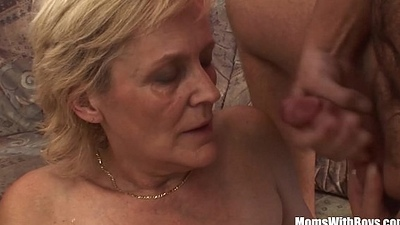 Blonde Ancient Progenitrix In Stockings Shaved Fur pie Fucked