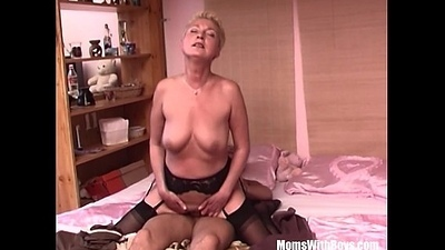 Mama'_s Superannuated Wet Pussy Requires A Hefty Price