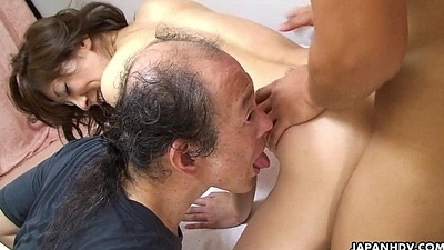 Asian battle-axe getting slammed as A she receives that doggy position