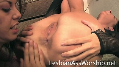 Brandy Aniston and Marlena Lesbian Ass Weathering