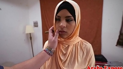 Ethnic arab babe receives screwed increased by fingered