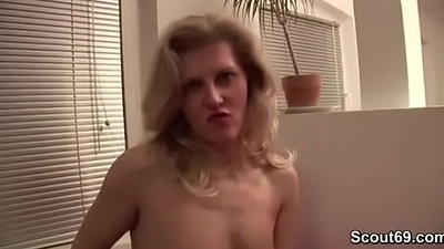 German Mom Adulterated him with the addition of Helps with Show with the addition of Blowjob